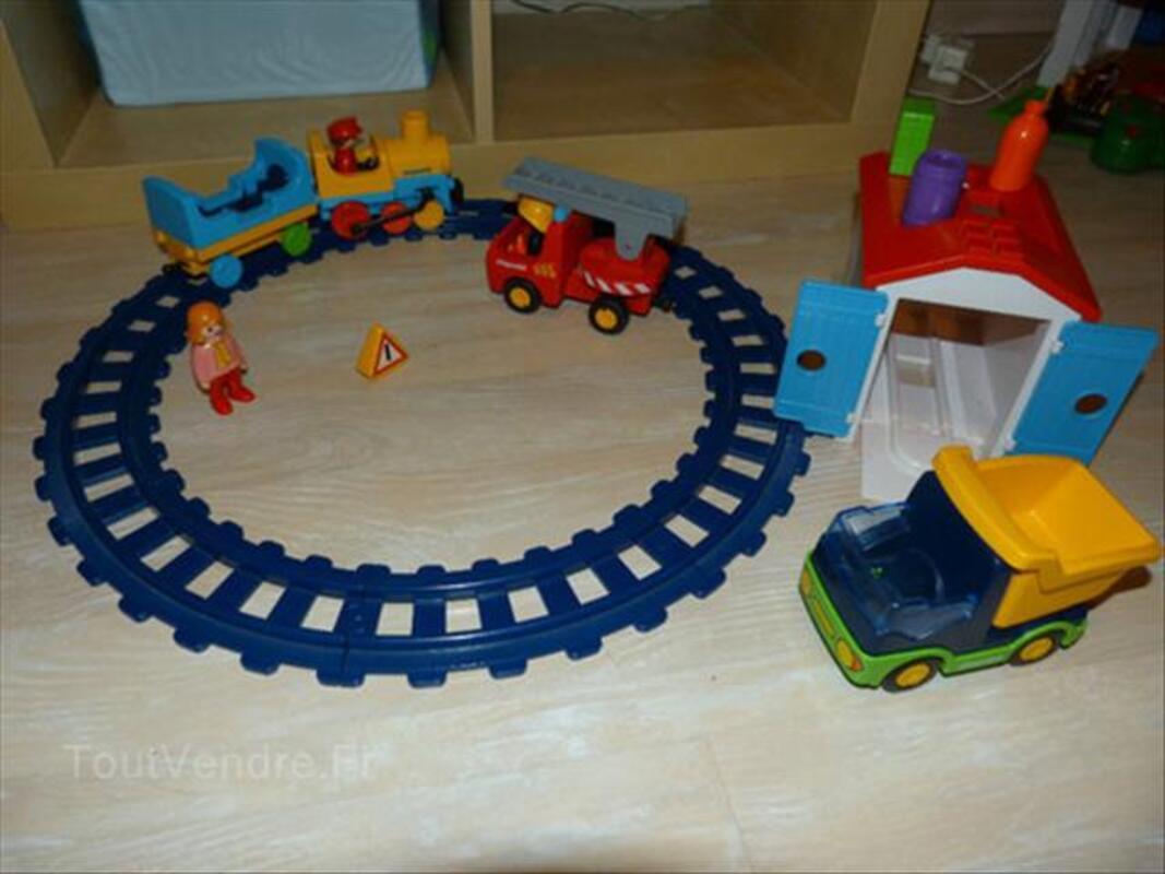 Playmobil 123 Lot: ferme, zoo, train, pompier, camion.. 56470081