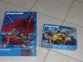 Playmobil-3174-Pirates-Vaisseau Corsaire + 3127-Set pirates