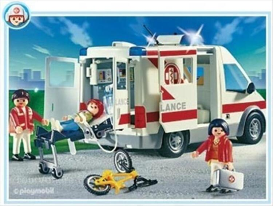 Playmobil - 4221 - Hôpital - Ambulanciers, blessé, vélo 71851295