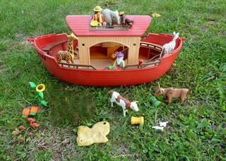 Playmobil lot arche de Noah Noe bateau zoo