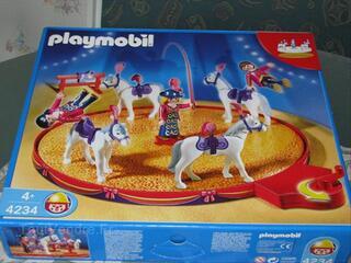 Playmobil n°4234 Voltigeurs, chevaux et manège (cirque)