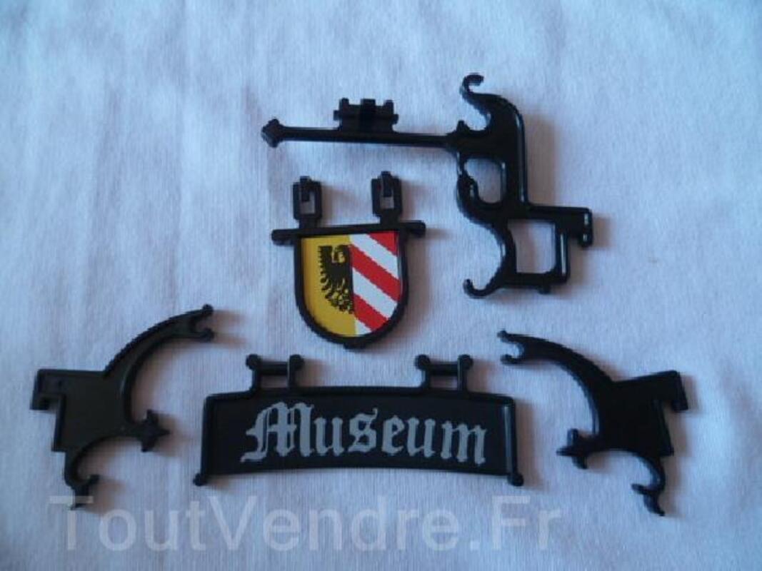 PLAYMOBIL, très rare, lot enseigne musée médiéval, 3449 92592107