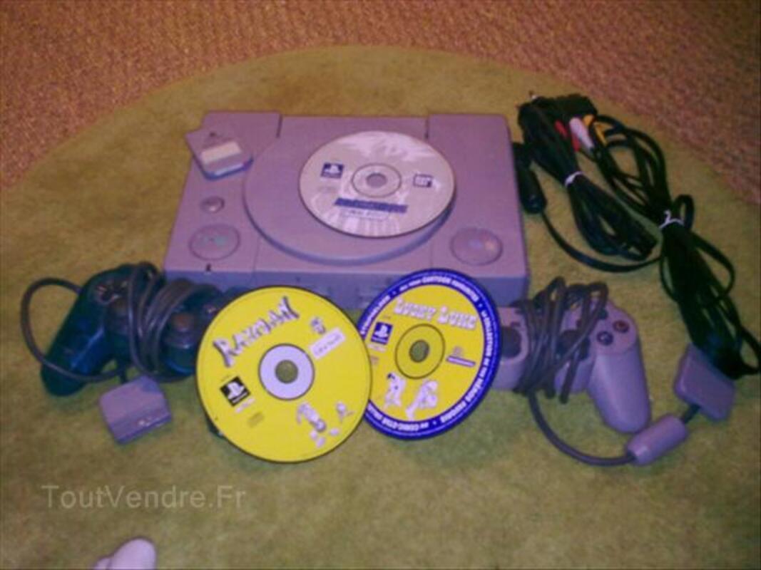 Playstation 1 + 2 manettes + 3 jeux + 1 carte mémoire 64589526