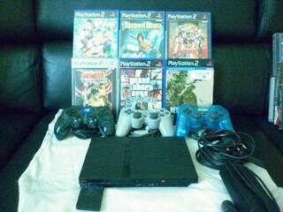 Playstation 2 slim + 6 jeux 40 euros