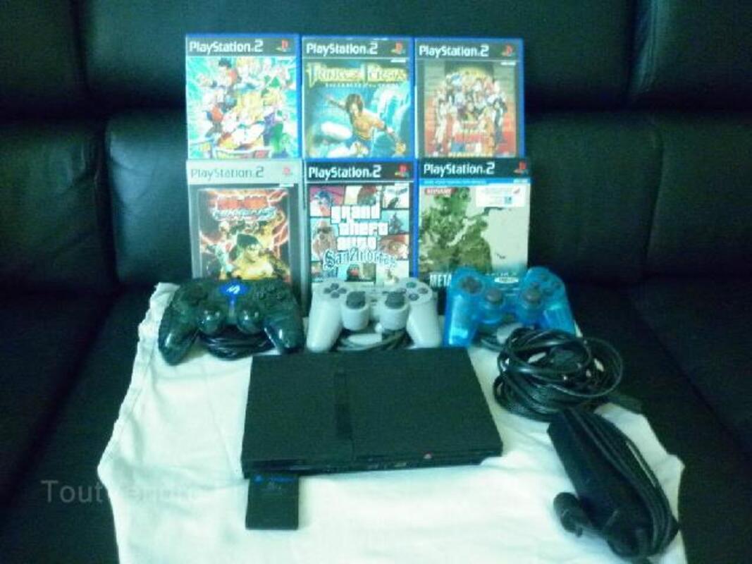 Playstation 2 slim + 6 jeux 40 euros 94045435