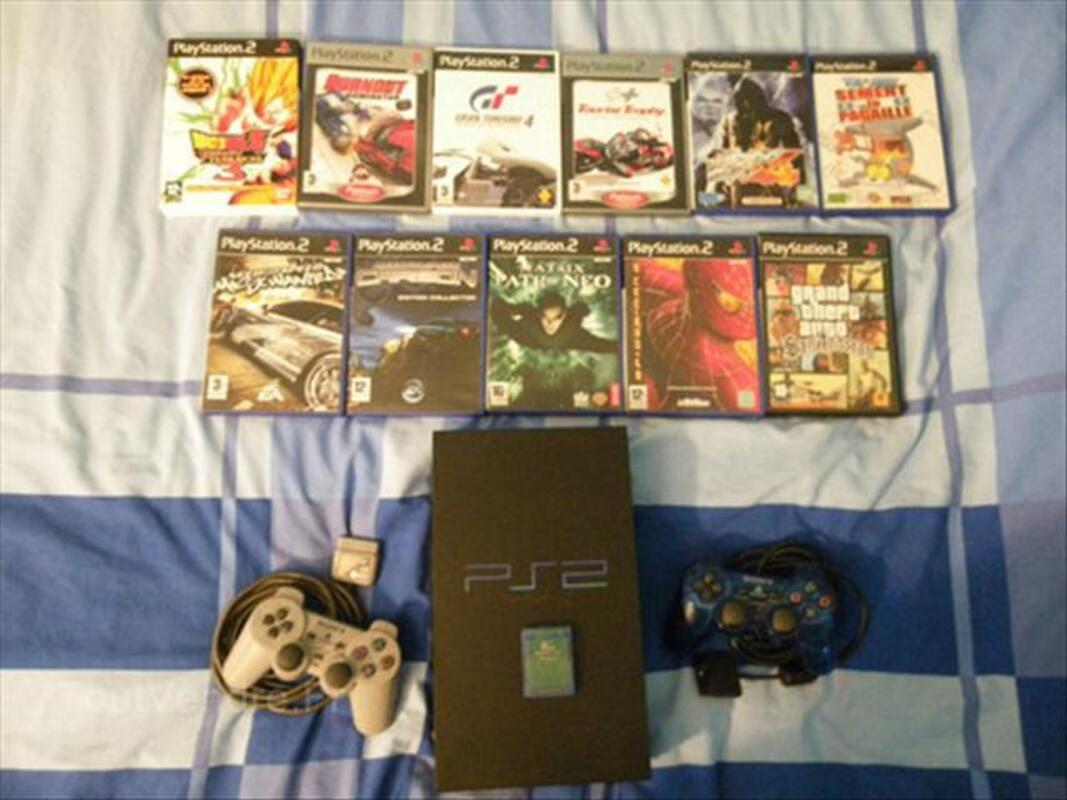 Playstation2 +carte memoire+2 manette+11 jeux 54538047