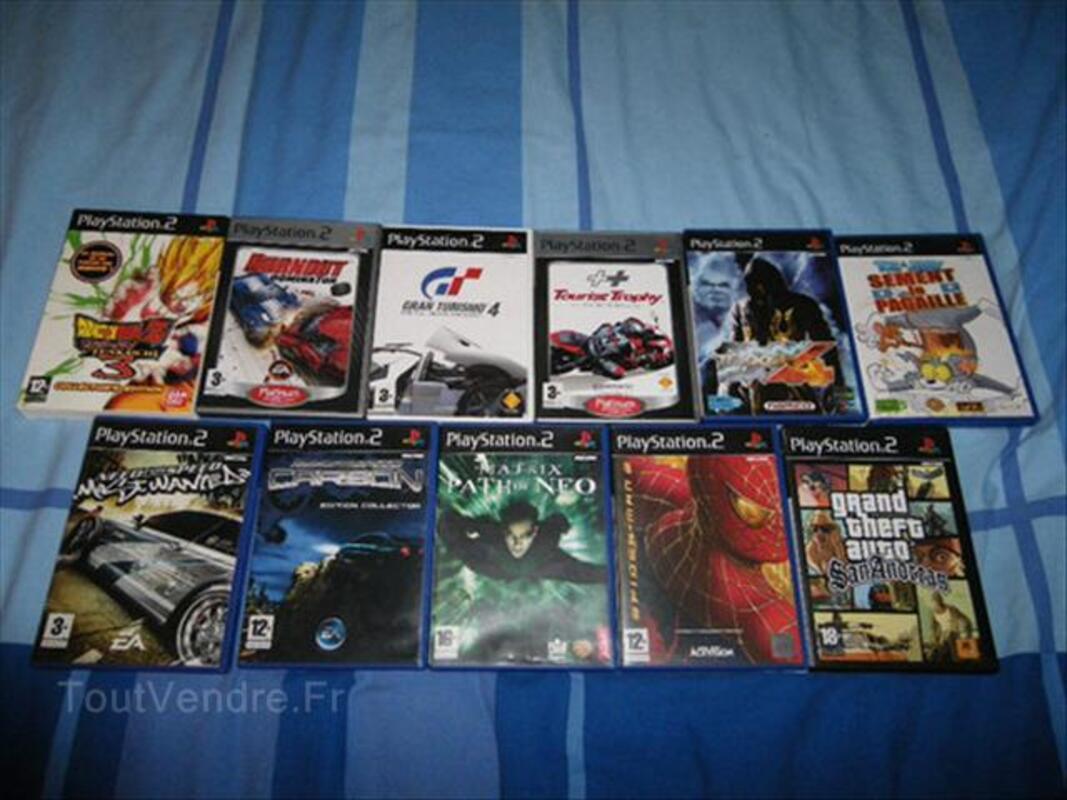 Playstation2 +carte memoire+2 manette+11 jeux 54538048