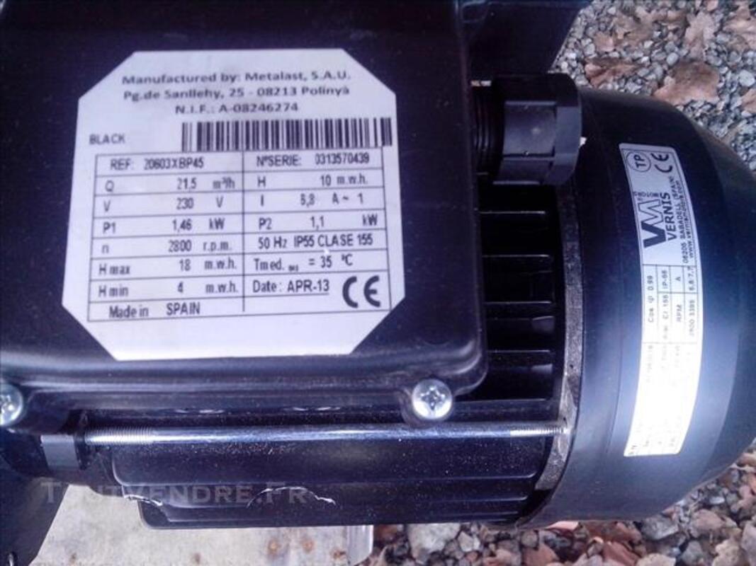 Pompe piscine avec support filtre 21 m3/h neuve 83771749