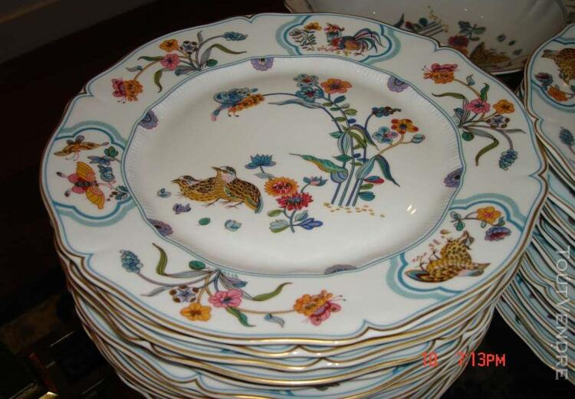 """Porcelaines """"service aux cailles""""HAVILAND 125961771"""
