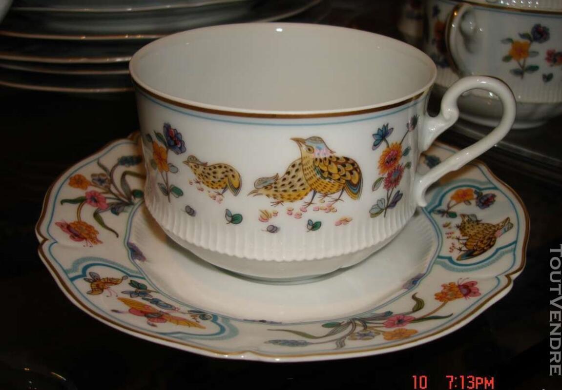 """Porcelaines """"service aux cailles""""HAVILAND 125961772"""