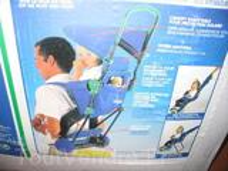 Porte bébé dos à roulette avec canopy - Babidéal