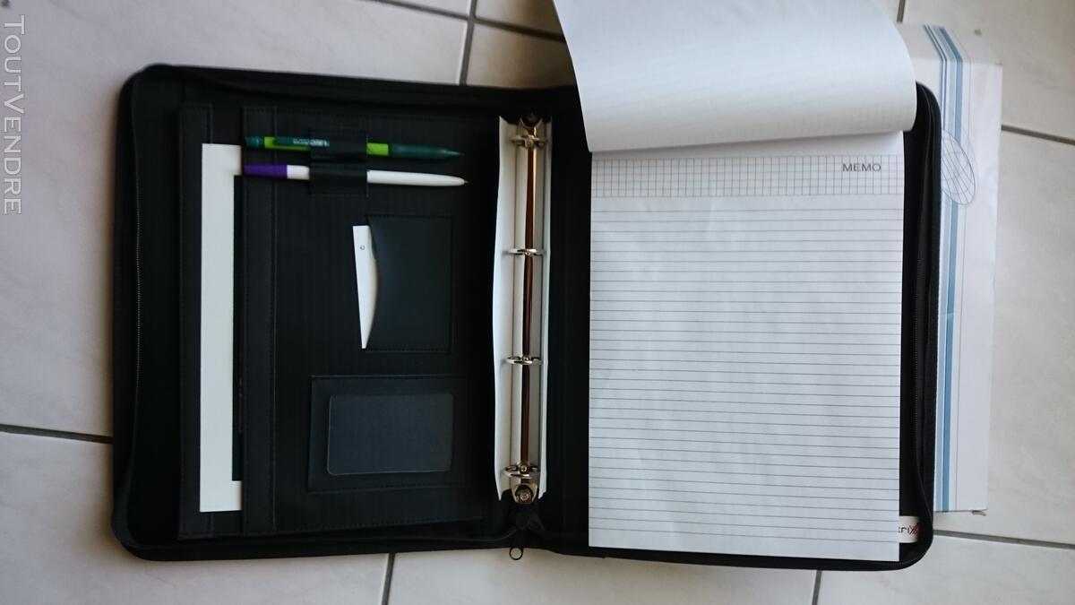 Porte document toile noire 127234144