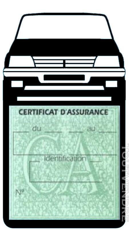 Porte étui vignette assurance Voiture 205 Peugeot 650691358
