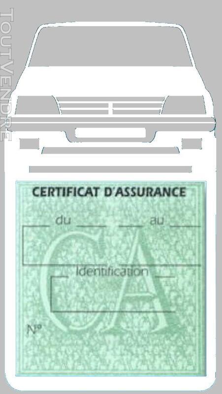 Porte étui vignette assurance Voiture 205 Peugeot 650691367