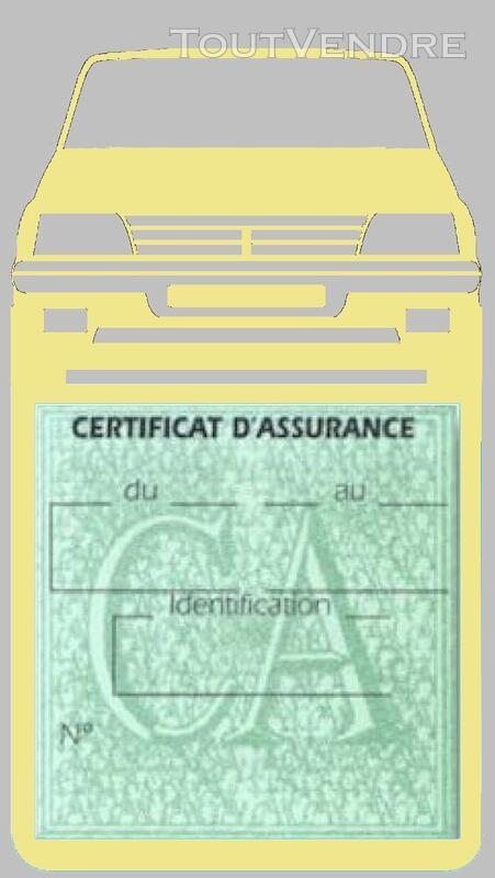 Porte étui vignette assurance Voiture 205 Peugeot 650691373