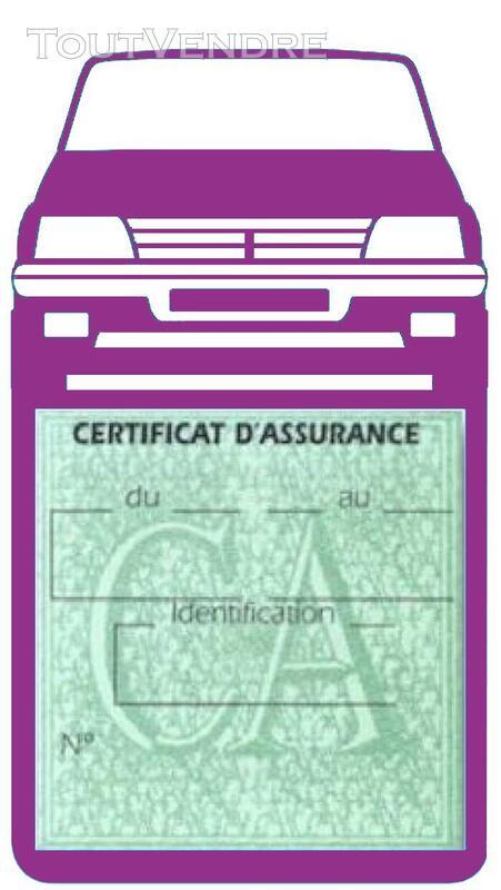 Porte étui vignette assurance Voiture 205 Peugeot 650691376
