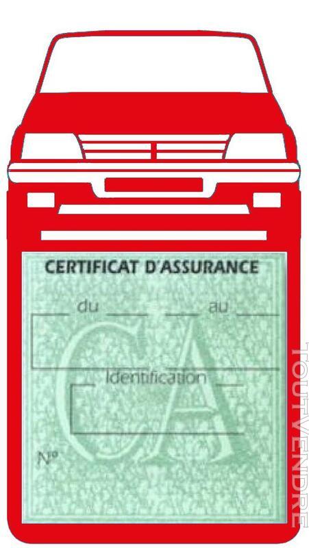 Porte étui vignette assurance Voiture 205 Peugeot 650691379
