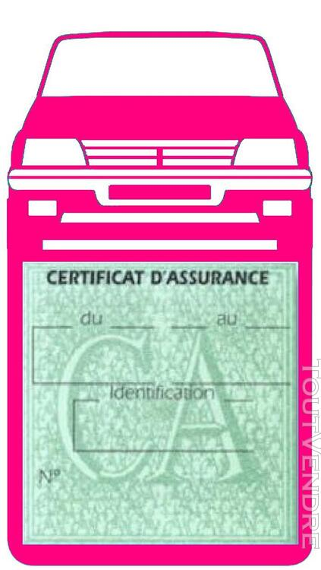Porte étui vignette assurance Voiture 205 Peugeot 650691385