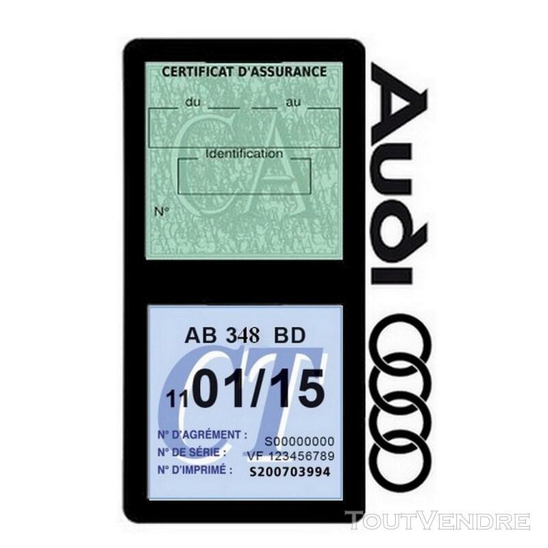 Porte vignette assurance voiture Audi double pochette 650691319