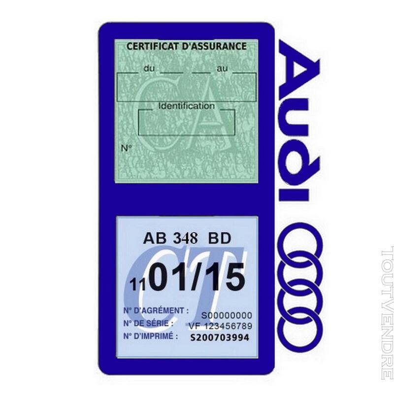Porte vignette assurance voiture Audi double pochette 650691322