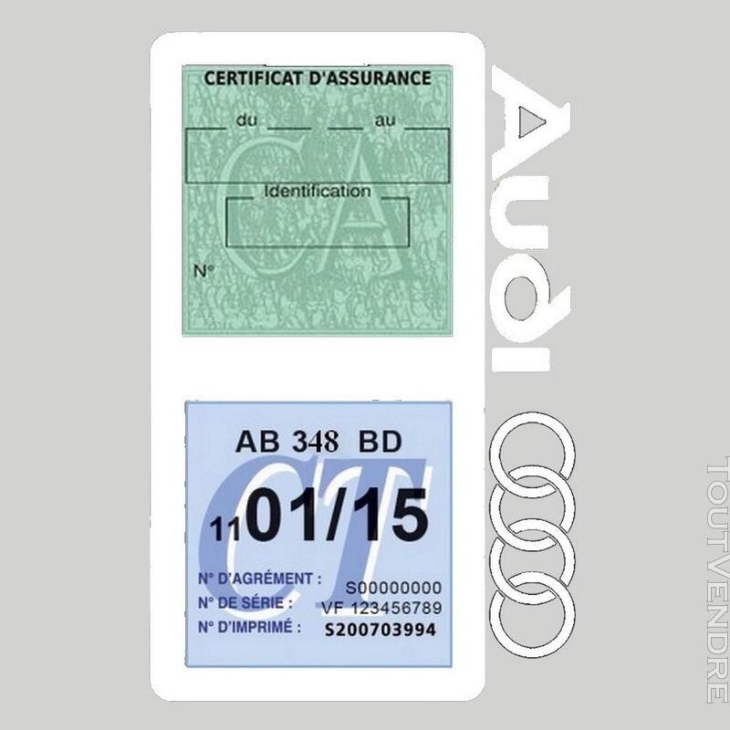 Porte vignette assurance voiture Audi double pochette 650691325