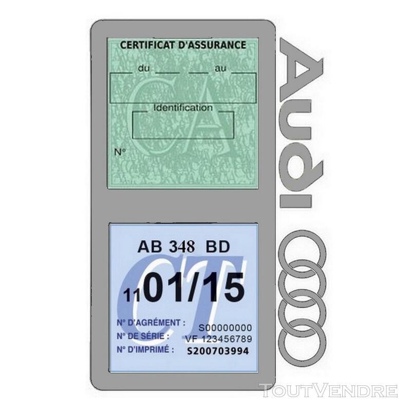Porte vignette assurance voiture Audi double pochette 650691328