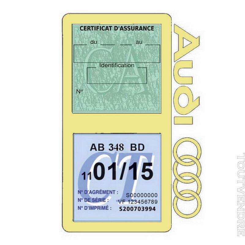 Porte vignette assurance voiture Audi double pochette 650691331