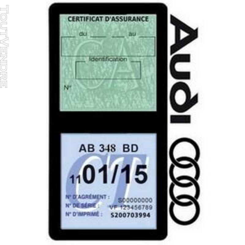 Porte vignette assurance voiture Audi double pochette 650691334