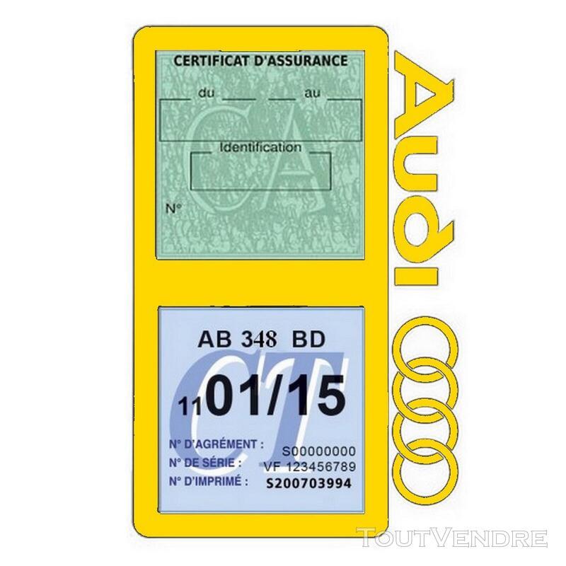 Porte vignette assurance voiture Audi double pochette 650691337