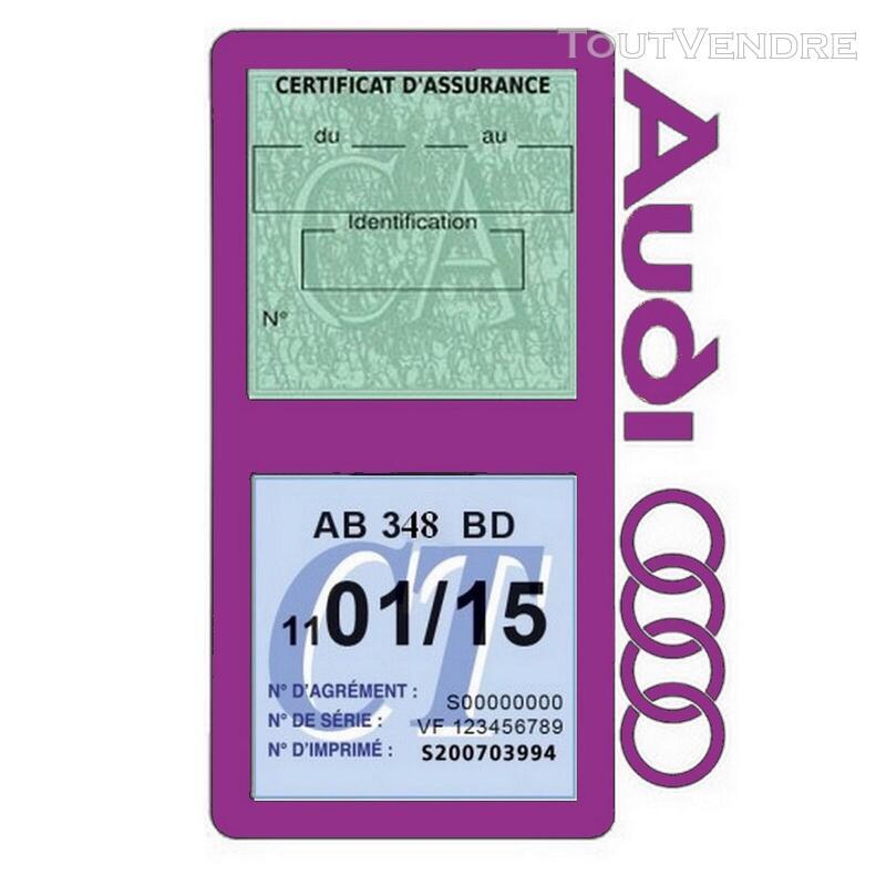 Porte vignette assurance voiture Audi double pochette 650691340