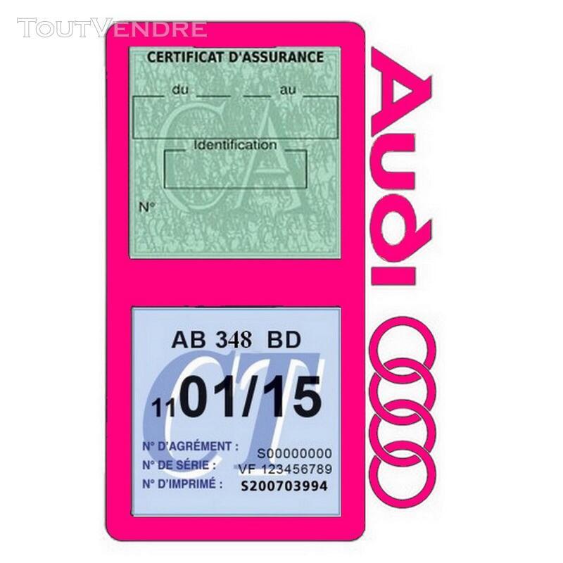 Porte vignette assurance voiture Audi double pochette 650691346