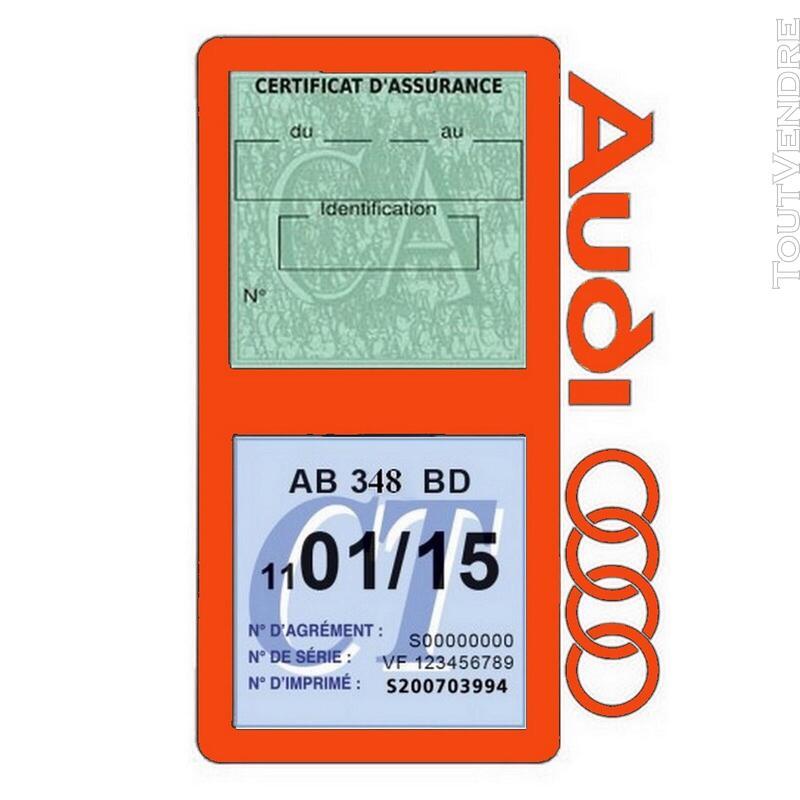Porte vignette assurance voiture Audi double pochette 650691352
