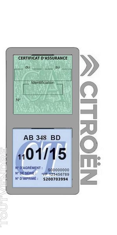 Porte vignette assurance voiture Citroën double pochette 650691550