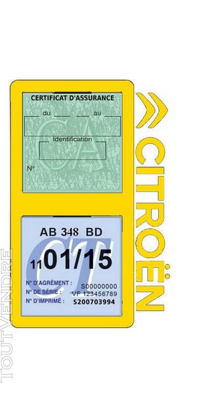 Porte vignette assurance voiture Citroën double pochette 650691556