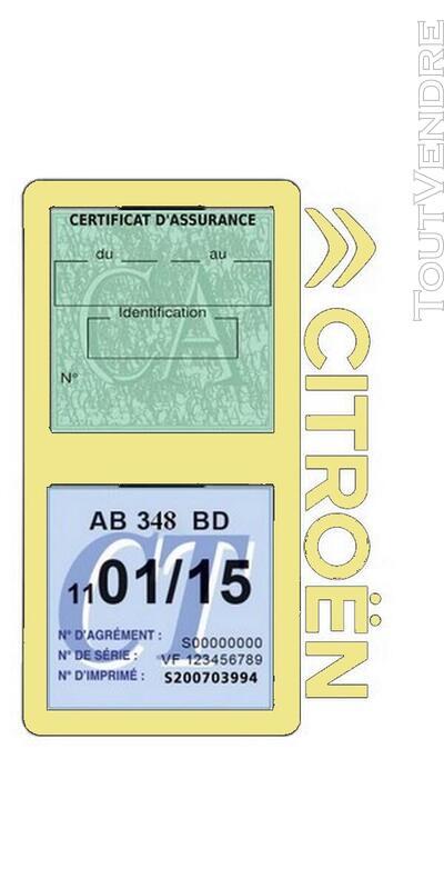 Porte vignette assurance voiture Citroën double pochette 650691559