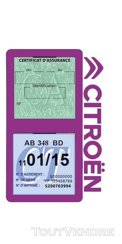 Porte vignette assurance voiture Citroën double pochette 650691562