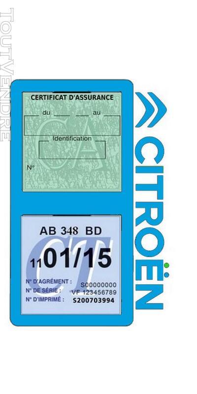 Porte vignette assurance voiture Citroën double pochette 650691565