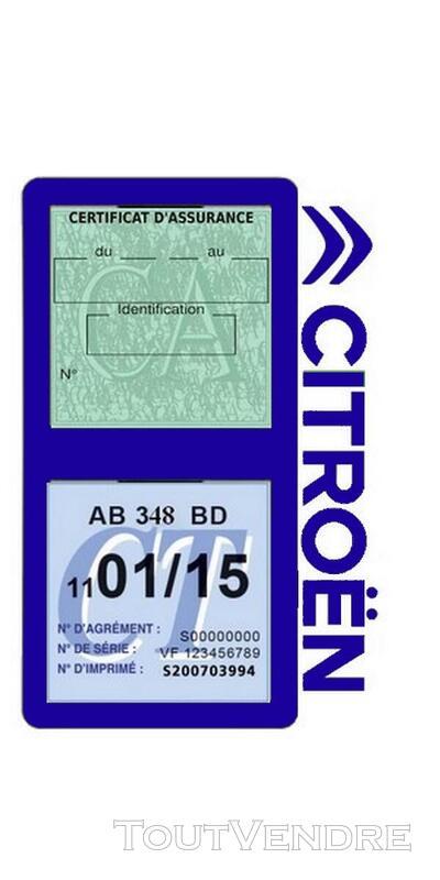 Porte vignette assurance voiture Citroën double pochette 650691568