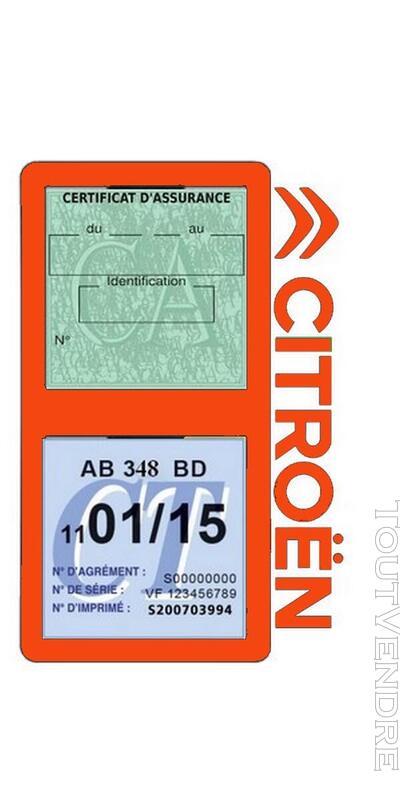 Porte vignette assurance voiture Citroën double pochette 650691571