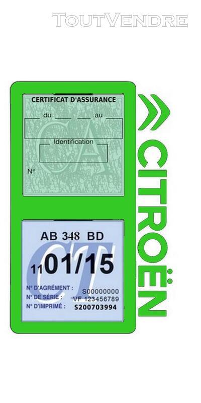 Porte vignette assurance voiture Citroën double pochette 650691580