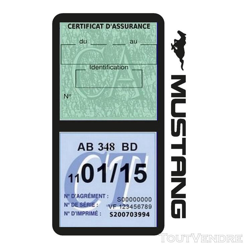Porte vignette assurance voiture FORD MUSTANG Americaine US 650898478