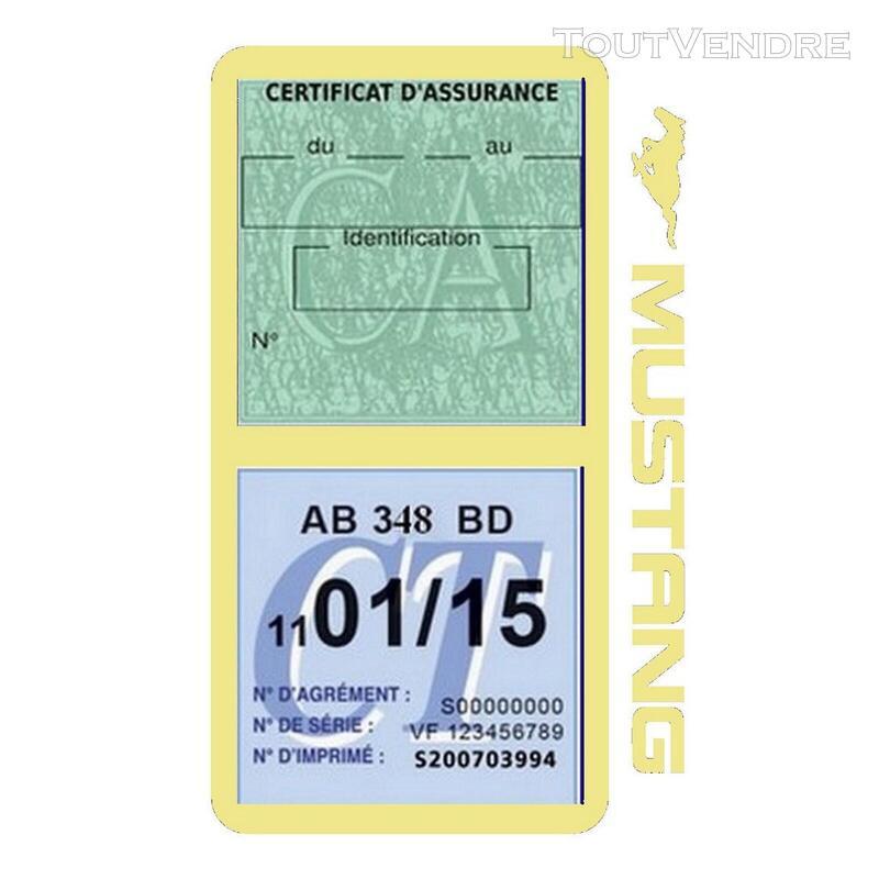 Porte vignette assurance voiture FORD MUSTANG Americaine US 650898481