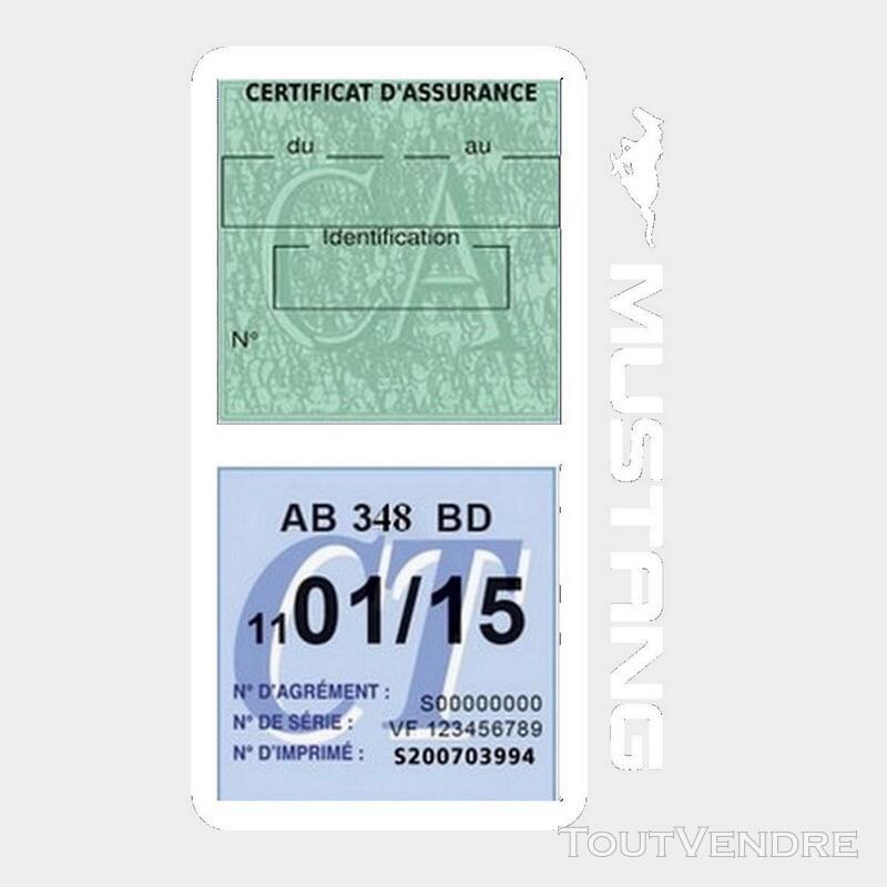 Porte vignette assurance voiture FORD MUSTANG Americaine US 650898484