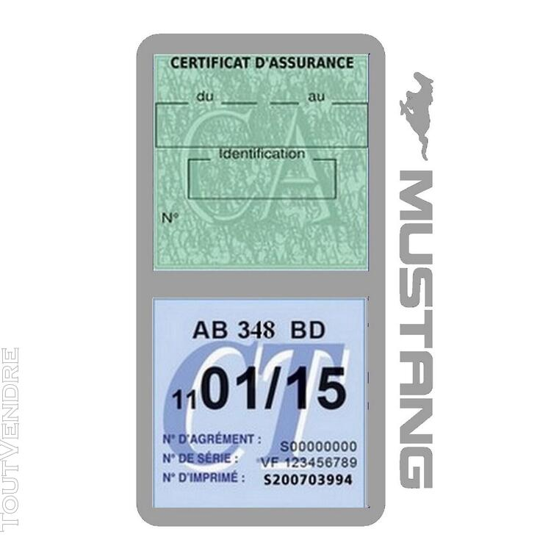 Porte vignette assurance voiture FORD MUSTANG Americaine US 650898487