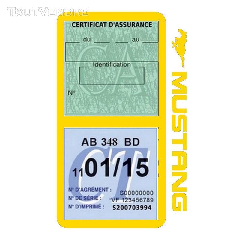 Porte vignette assurance voiture FORD MUSTANG Americaine US 650898490
