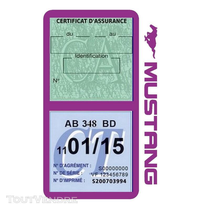 Porte vignette assurance voiture FORD MUSTANG Americaine US 650898493