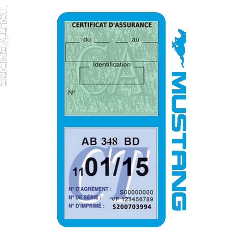 Porte vignette assurance voiture FORD MUSTANG Americaine US 650898496