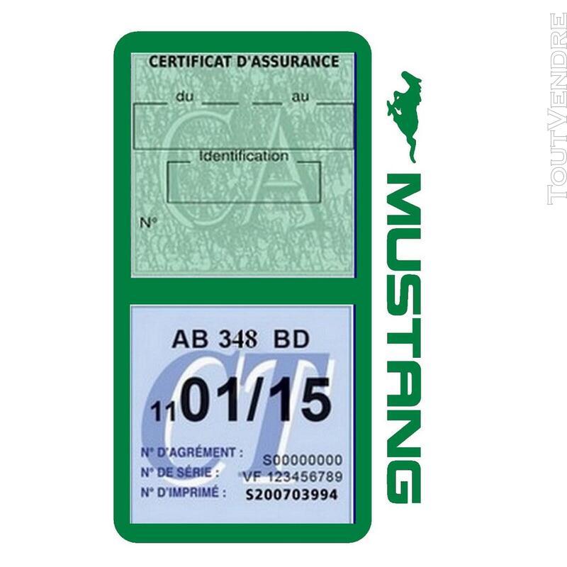 Porte vignette assurance voiture FORD MUSTANG Americaine US 650898502