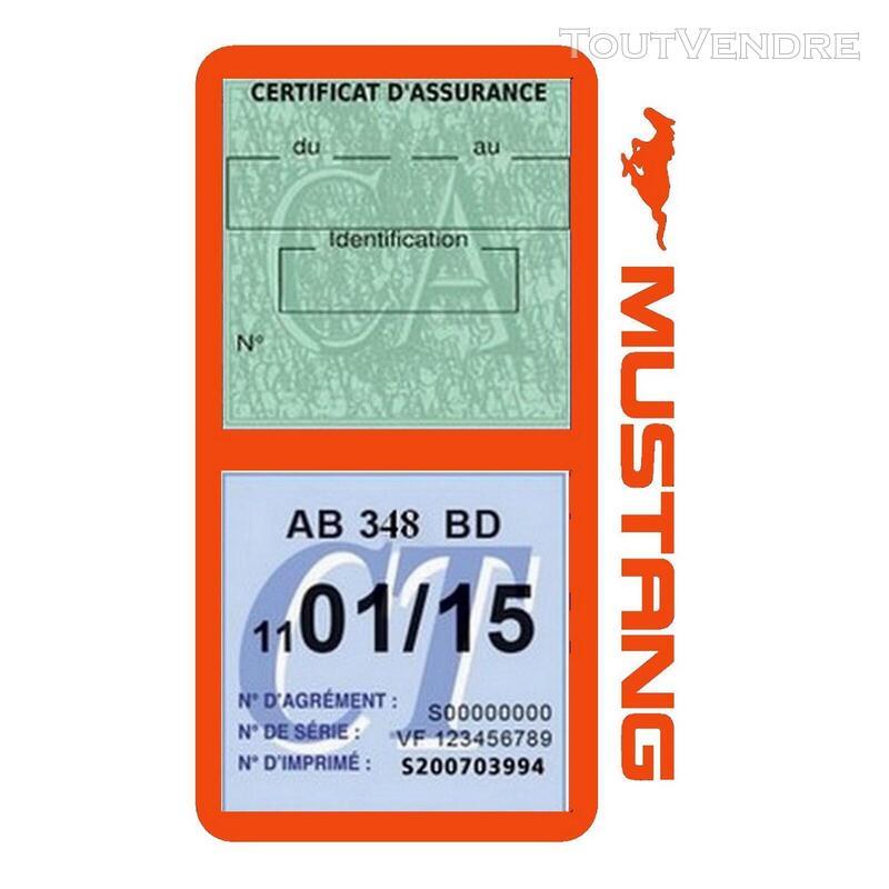 Porte vignette assurance voiture FORD MUSTANG Americaine US 650898505
