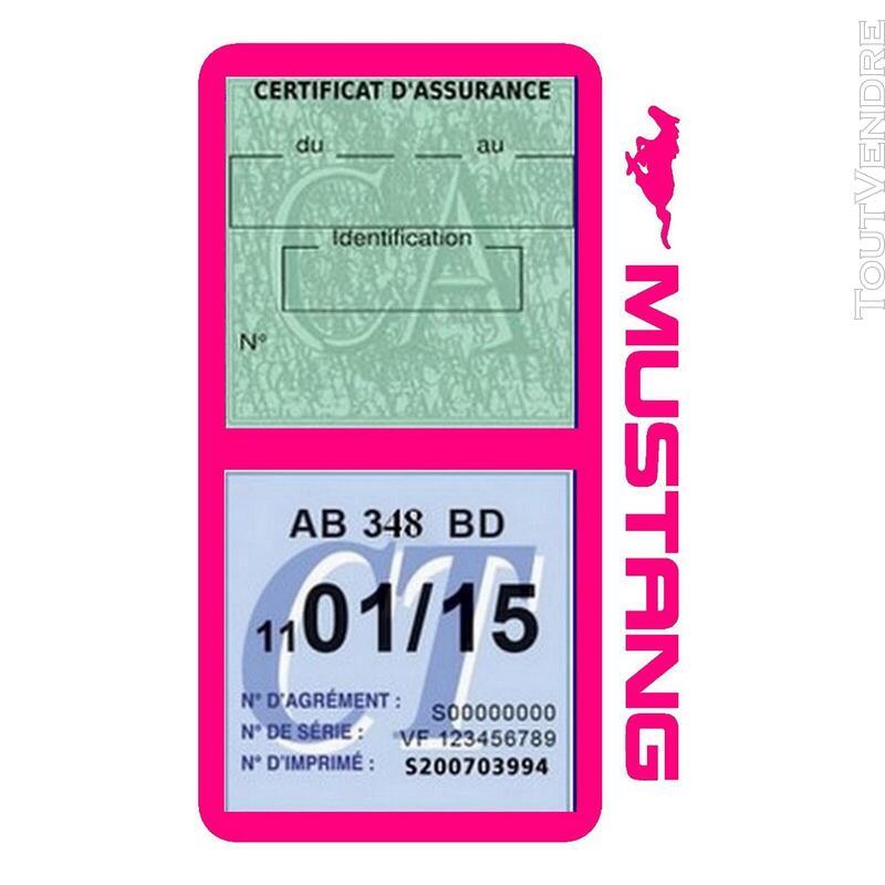 Porte vignette assurance voiture FORD MUSTANG Americaine US 650898508